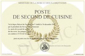 second en cuisine poste de second de cuisine