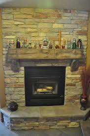 Gas Mantle Fireplace by Stones Fireplace With Barn Beam Mantle And Natural Stone J U0026n Stone