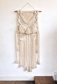 mid century hanging l large vintage woven wall hanging bohemian mid century macrame