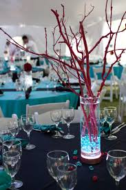 branch centerpieces vase with branches centerpieces turqoise and themed wedding