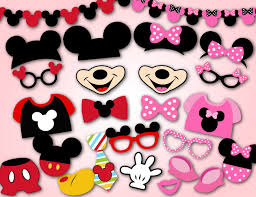 mickey mouse photo booth props printable mickey mouse photobooth props pink minnie photo