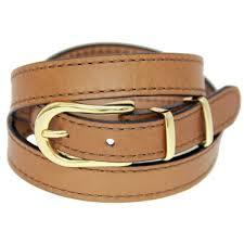 men or women u0027s narrow brown leather belt casual