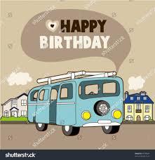 car birthday card stock vector 65703823 shutterstock