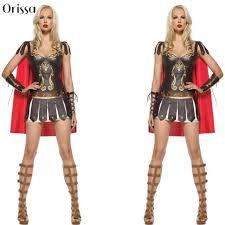 Roman Halloween Costumes Aliexpress Buy Ladies Roman Greek Xena Gladiator Warrior