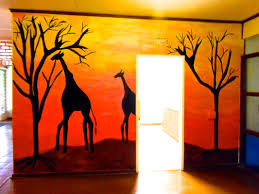 walls completed joburgkidspaces this african sunset mural is on the entrance hall in the home of one of my clients he is a professor at the university of venda see testimonial and a