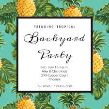 pineapple print free printable invitation template