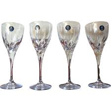 crystal wine glasses four royal doulton wine glasses lead crystal