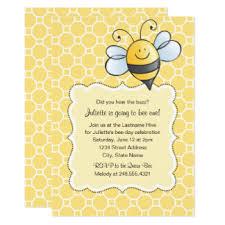 bee birthday invitations u0026 announcements zazzle