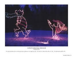 Animated Polar Bear Christmas Decoration Lights by Holiday Lights In The Park U2013 St Paul Police Foundation
