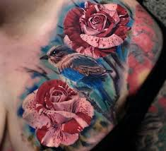 the 25 best rose chest tattoo ideas on pinterest flower tattoos