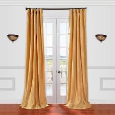 Yellow Faux Silk Curtains Eff Solid Faux Silk Taffeta Window Curtain Silk Taffeta Silk