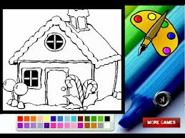 gingerbread house coloring pages kids gingerbread house