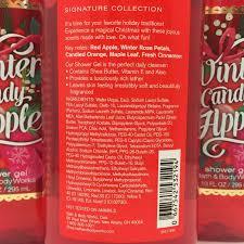 3 bath body works winter candy apple shower gel wash 10 oz holiday 3 bath body works winter candy apple shower gel wash 10 oz holiday traditions what s it worth
