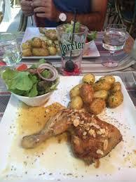 cuisine au plat du jour poulet fermier au miel de lavande pomme de terre