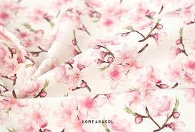 Cherry Blossom Upholstery Fabric Cherry Blossom Fabric Cherry Blossom Pattern 150cmx90cm Linen