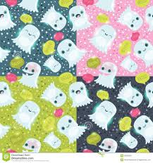 halloween ghosts seamless pattern stock image image 33853661