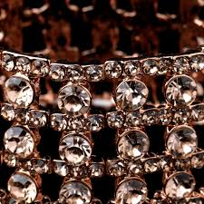 rose rhinestone bracelet images Rose gold rhinestone stretch bracelet jpg