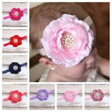 white flower headband children pearl flower headband hairband baby fashion hair
