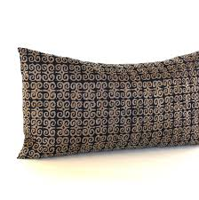 Lumbar Pillow Cover Black Bronze Throw Pillow Cover Medallion