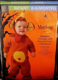 infant 0 6 months halloween costumes halloween costume infant 0 6 months monkey u2022 cad 9 79 picclick ca
