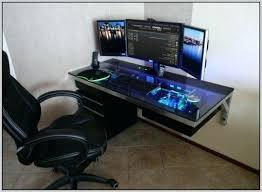 Computer Desk Diy Diy Gaming Computer Desk Gaming Desk Great Arrangement For Gaming