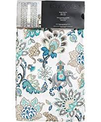 Gold And Teal Curtains Amazon Com Envogue Pair Of Window Curtains Panels Set Of 2 Cream