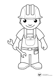 builder printable coloring pages pinterest community helpers