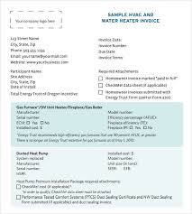 Air Conditioning Invoice Template by Hvac Invoice Templates Sle Hvac Invoice Template 8