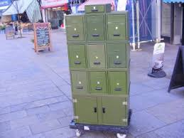 Vintage Metal Storage Cabinet Bleu Storage