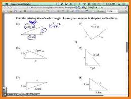 pythagorean theorem problems and answers word format resume