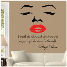 marilyn monroe wall decal ebay marilyn monroe wall decal decor quote face red lips makeup sticker choose size