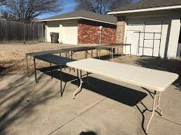 table rentals dallas 7 folding tables and 2 clothes racks rental in plano tx