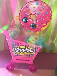 shopkins centerpiece idea shopping cart 5 ebay colored tulle