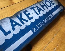 lake tahoe sign etsy