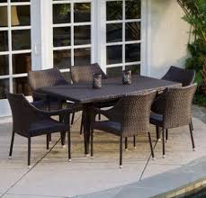 Patio Table 6 Chairs Patio Dining Set Porch Balcony Garden Table 6 Chairs Veranda Deck