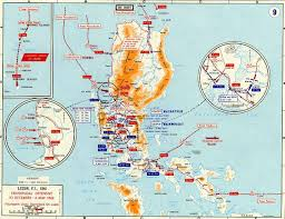 Southeastern Asia Map by Map Of Wwii Luzon 1941 42
