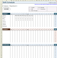 Excel Shift Schedule Template Free Employee Shift Schedule Template For Excel