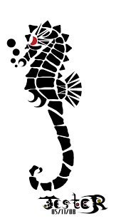 tribal seahorse thing by deathjester on deviantart