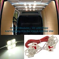 led interior light kits 2v 40 leds van interior light kits ampper led ceiling lights kit