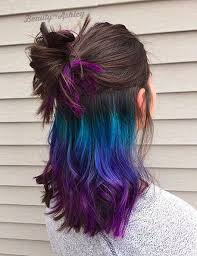 does hair look like ombre when highlights growing out underlights the rainbow hair dye you can sport at the office