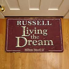 David Low The Doormat Personal Creations Personalized Living The Dream Doormat 17
