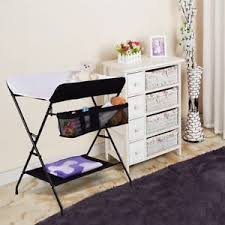 Iron Changing Table Portable Baby Storage Folding Changing Table Travel Infants