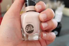 manicure tuesday sally hansen miracle gel in birthday suit and