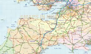France Rail Map by South West England County Road U0026 Rail Map With Regular Relief 1m