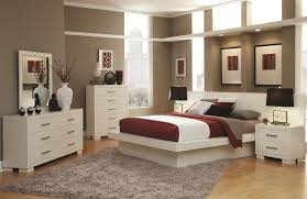 Contemporary California King Bedroom Sets - contemporary white low profile bed with bold hardware available