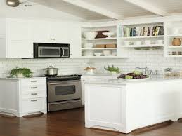 Kitchen With Subway Tile Backsplash Kitchen White Tile With Light Grey Grout Subway Backsplash Also