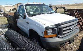 1999 ford f450 super duty flatbed truck item cb9879 sold