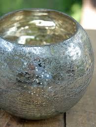 Glass Bowl Vases Mercury Glass Bubble Bowl Vase 5in Wedding Pinterest Mercury