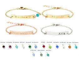 customized baby jewelry baby name bracelet etsy