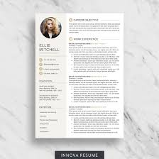 resume with photo template 10 best etsy resume templates graphicadi